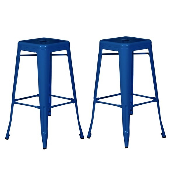 Outdoor Metal Bar Stools Moderno Series Counter Height 24 Quot regarding Amazing in addition to Stunning blue bar stool for Wish