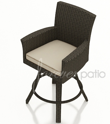 Outdoor Wicker Bar Stools Patio Bars And Barstools throughout Wicker Swivel Bar Stools