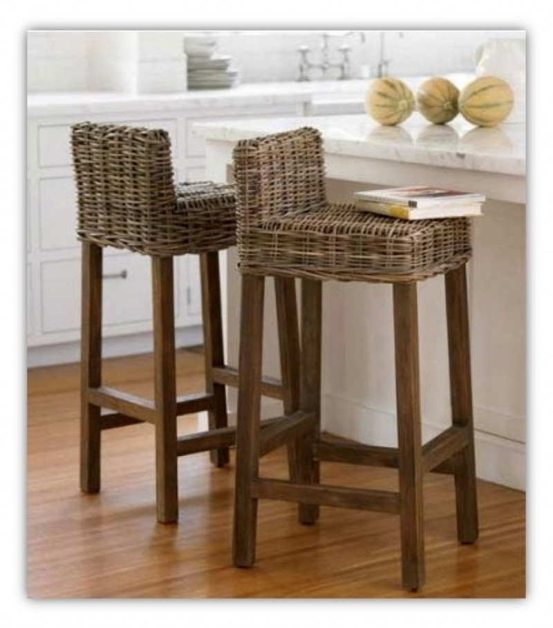 Outdoor Wicker Bar Stools With Backs Archives Bar Stools Dream pertaining to Wicker Bar Stools With Backs
