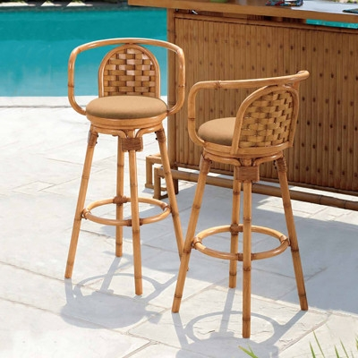 Outdoors Set Of And Home On Pinterest pertaining to Tiki Bar Stools