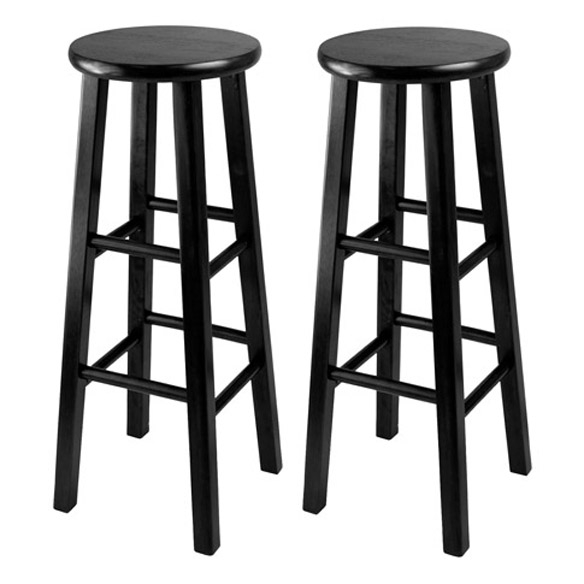Pacey 2 Pc Set Bar Stools Winsome Wood throughout Winsome Bar Stools