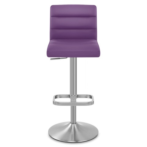 Padded Crescent Bar Stool Purple Atlantic Shopping with regard to Purple Bar Stools