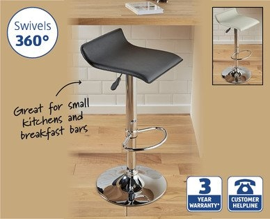 Padded Gas Lift Bar Stool 1699 Aldi Hotukdeals intended for Elegant  aldi bar stools with regard to Really encourage