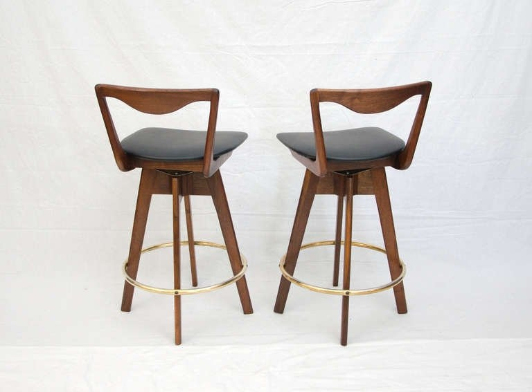 Pair Of Mid Century Danish Style Bar Stools At 1stdibs with regard to The Stylish in addition to Gorgeous mid century bar stools for Inspire