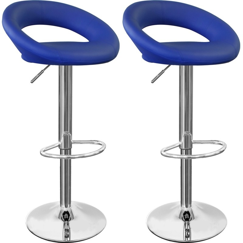 Pair Of Sorrento Blue Bar Stools Kitchen Bar Stools within Blue Bar Stools
