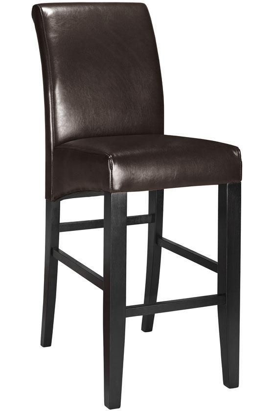 Parsons Rolled Back Leather Bar Stool Bar Stools Seating regarding Leather Bar Stools With Back