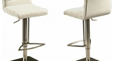 Pastel Dubai Hydraulic Barstool Stainless Steel With White Back for stainless bar stools with regard to Inviting