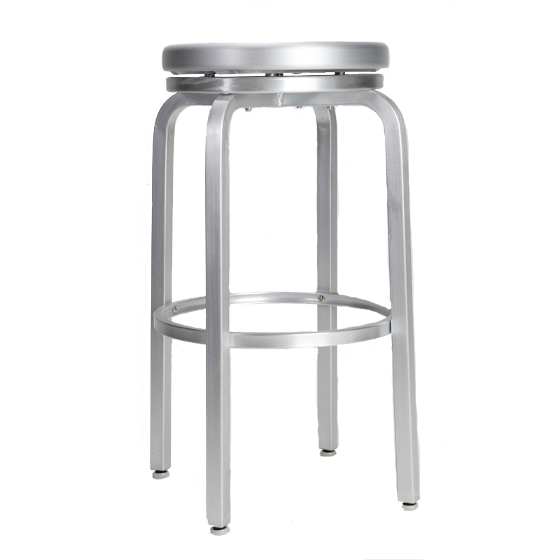 Paula Brushed Aluminum Swivel Bar Stool Restaurant Furniture for aluminum swivel bar stools for Your own home