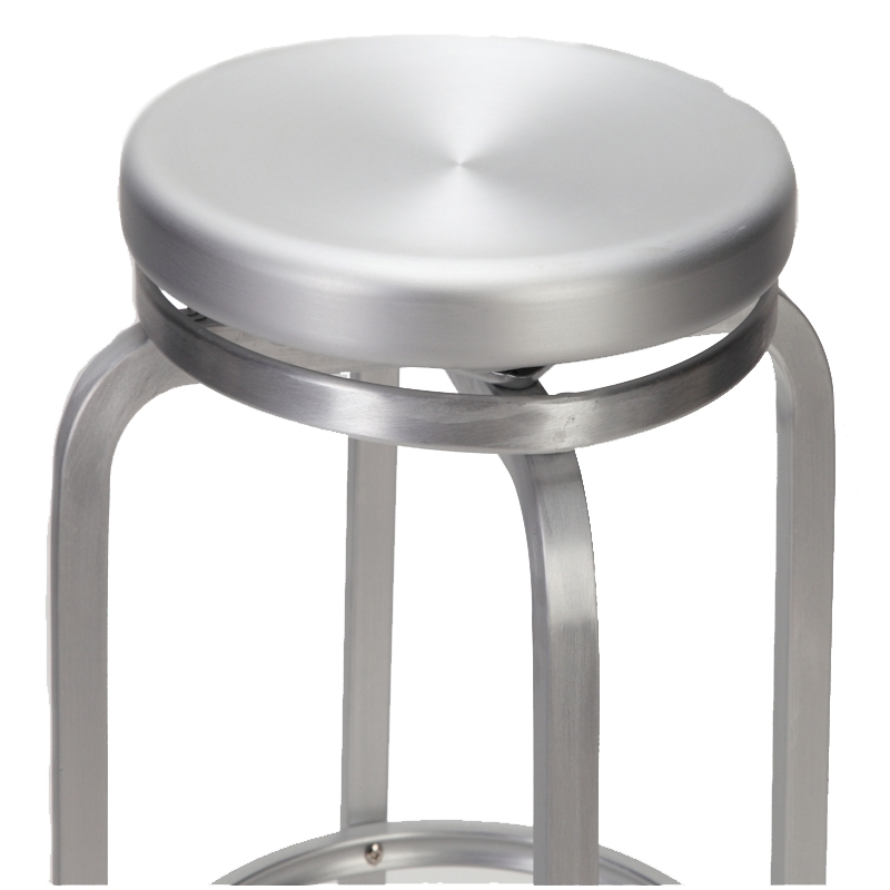 Paula Brushed Aluminum Swivel Bar Stool Restaurant Furniture regarding aluminum swivel bar stools for Your own home