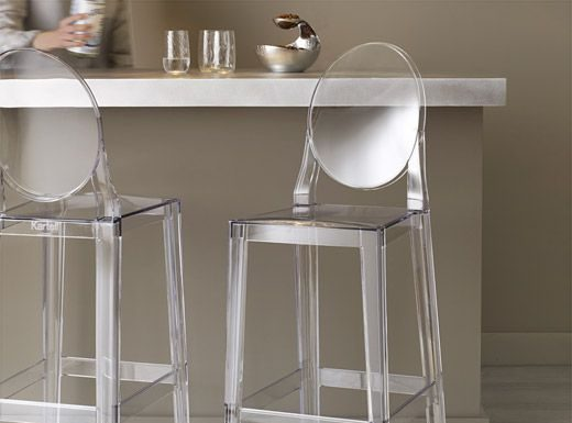 Philippe Starck Stools And Italy On Pinterest with Ghost Bar Stools