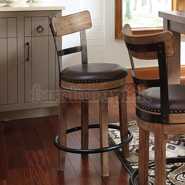 Pinnadel Swivel Counter Stool Counter Height Chairs Dining throughout counter height swivel bar stools for Really encourage