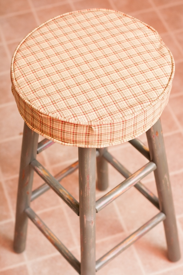 Pinterest Inspired Refurbished Bar Stools inside Bar Stool Cushions