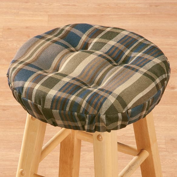 Plaid Bar Stool Cushion Stool Cushions Miles Kimball with regard to bar stool cushions for Encourage