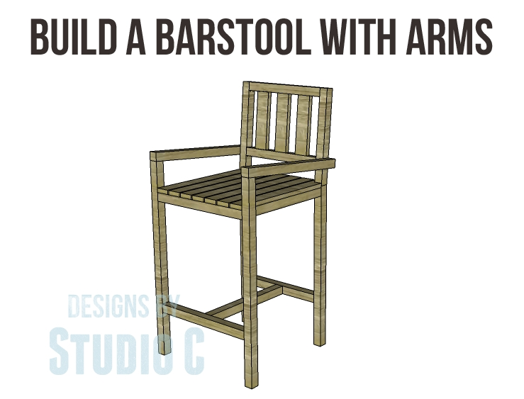 Plans To Build A Barstool With Arms throughout How To Build A Bar Stool