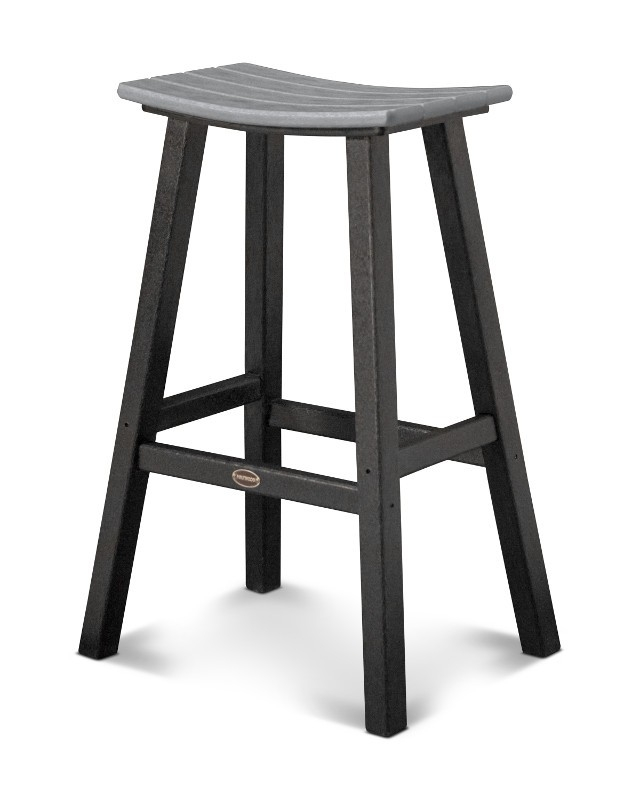 Polywood Contempo 30quot Saddle Bar regarding polywood bar stools for  Household