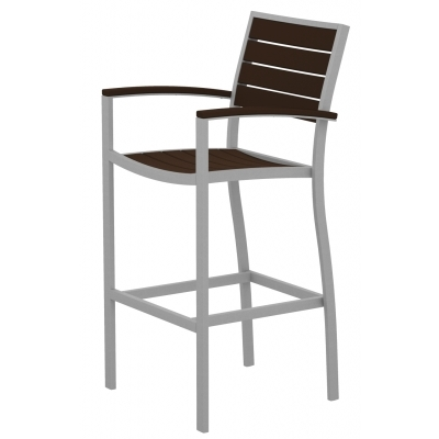 Polywood Euro Bar Arm Chair inside polywood bar stools for  Household