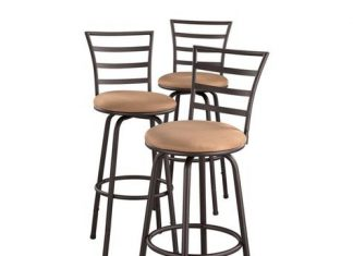 Portland Adjustable 3 Pack Barstools Shopko inside 3 bar stools with regard to Residence
