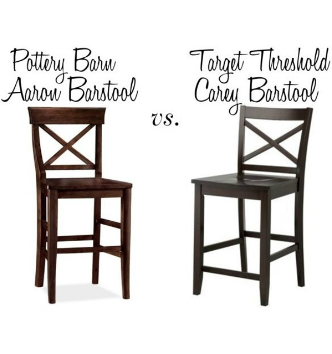 Pottery Barn39s Aaron Barstool Vs Target39s Carey Barstool throughout pottery barn bar stools regarding Your house