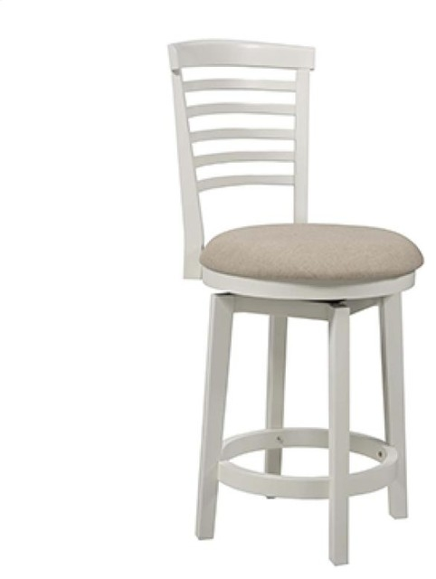 Powell 929 889 Big Tall White Wood Counter Stool Bar Stools And intended for White Wood Bar Stools