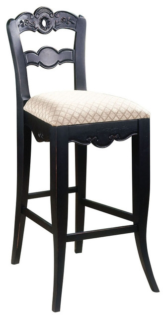 Powell Hills Of Provence Antique Black Over Terra Cotta Bar Stool with Powell Bar Stools