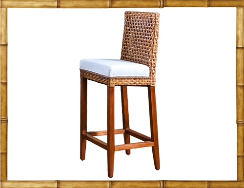 Rattan Bar Stools And Counter Height Stools throughout Wicker Bar Stools With Backs
