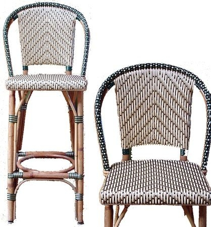 Rattan Bar Stools Island Stools And French Bistro On Pinterest regarding Bistro Bar Stools
