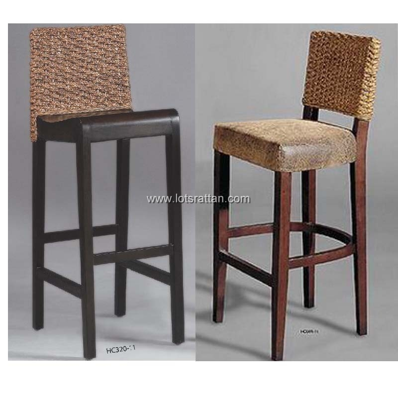 Rattan Bar Stoolswicker Bar Stoolscounter Height Stoolsseagrass with Woven Bar Stools