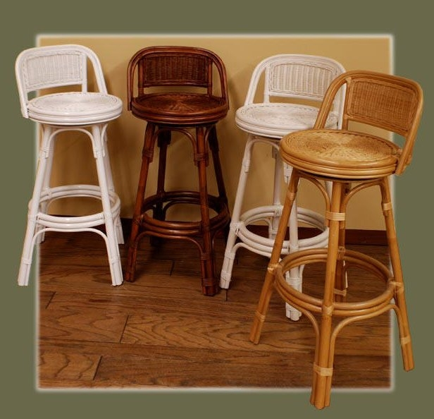 Rattan Core Bar Stools Kozy Kingdom for Wicker Swivel Bar Stools