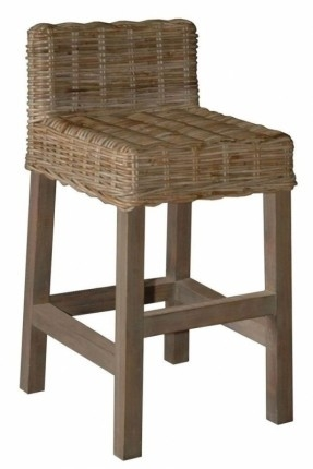 Rattan Counter Stool Foter with Wicker Bar Stools With Backs