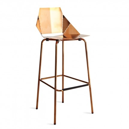 Real Good Copper Bar Stool Modern Bar Stools Blu Dot regarding Copper Bar Stools