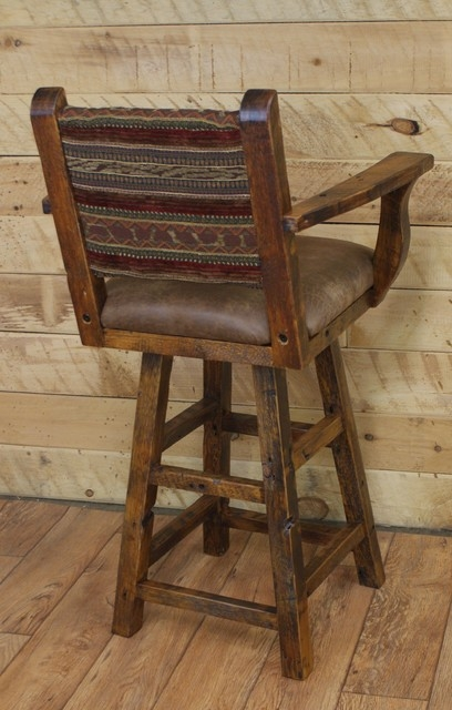 Reclaimed Bar Stools Buy A Hand Crafted Reclaimed Maple Swivel in Rustic Swivel Bar Stools