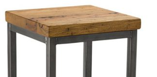 Reclaimed Chestnut Square Metal Stool Vermont Farm Table 30quoth regarding The Most Stylish and also Lovely square bar stools regarding Provide House