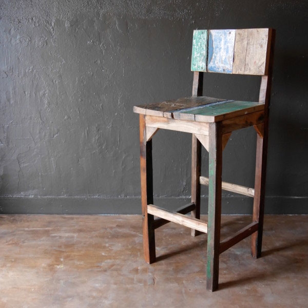 Reclaimed Wood Furniture C A R G O with reclaimed wood bar stool pertaining to Inspire