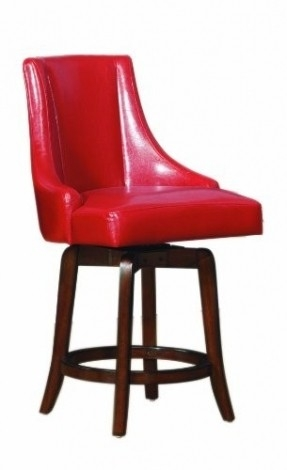 Red Leather Bar Stools Foter with regard to Red Leather Swivel Bar Stools