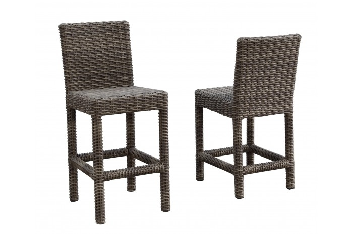 Resin Wicker Outdoor Barstool Sunbrella Cushion Sunset West regarding The Elegant and Beautiful outdoor wicker bar stools intended for Desire