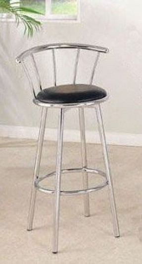 Retro Chrome Swivel Bar Stools Foter intended for Retro Swivel Bar Stools