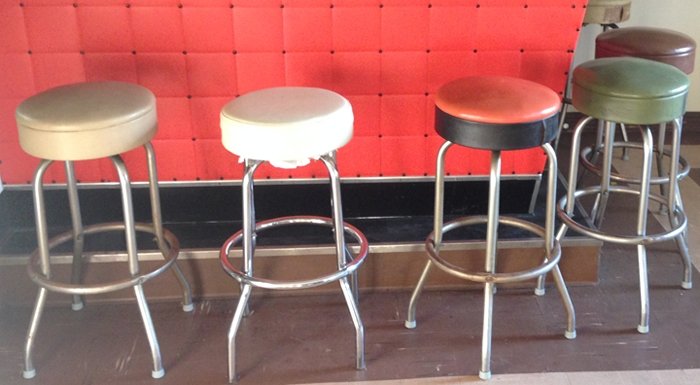 Reupholstering Bar Stools with old bar stools pertaining to Found Property