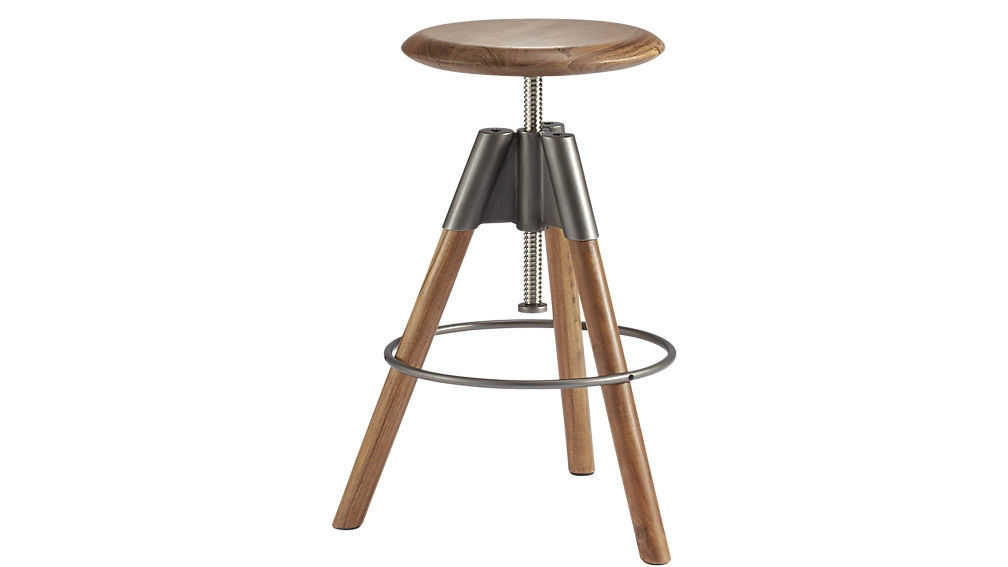 Revolution Adjustable Bar Stool Cb2 within The Most Brilliant in addition to Interesting bar stools adjustable intended for Your house