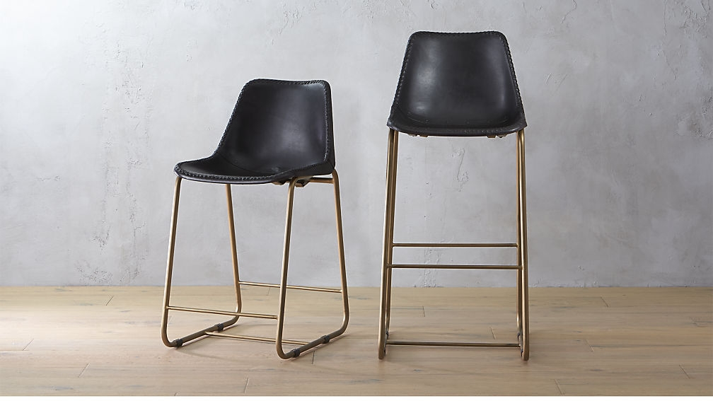 Roadhouse Black Leather Bar Stools Cb2 within Awesome along with Beautiful kessler bar stools intended for Your own home