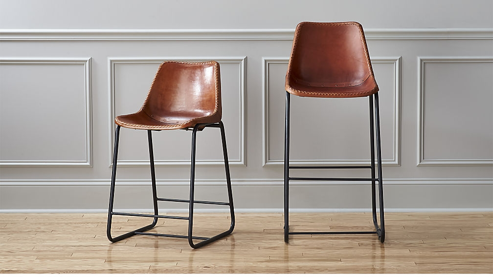 Roadhouse Leather Bar Stools Cb2 for Awesome  leather bar stool regarding Residence