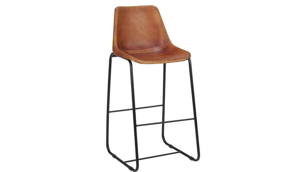 Roadhouse Leather Bar Stools Cb2 in Awesome  leather bar stool regarding Residence