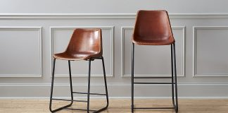 Roadhouse Leather Bar Stools Cb2 with Leather Bar Stools