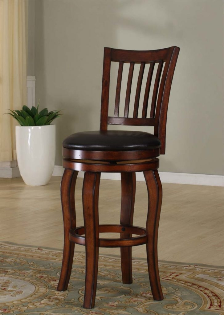 Roundhill Furniture Black Bar Stools With Backs Swivel Bar Stools in Swivels For Bar Stools