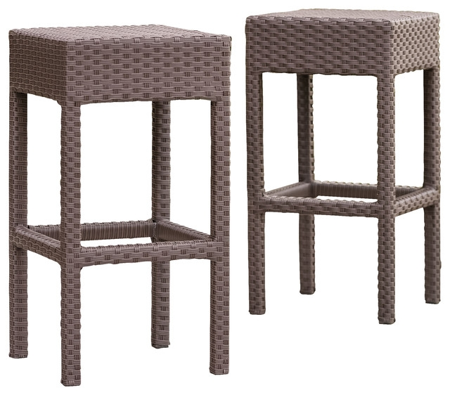 Rudolfo 2 Piece Outdoor Backless Bar Stools Contemporary in Bar Stools Backless