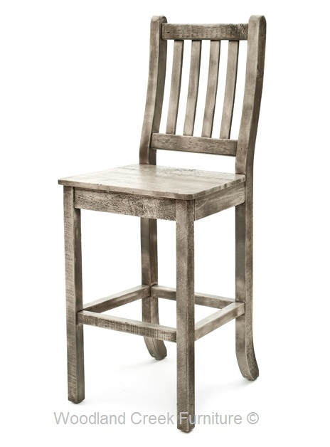 Rustic Bar Stools Reclaimed Wood Western Style Cabin Decor with regard to Reclaimed Wood Bar Stool
