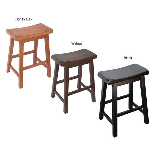 Saddle Seat 24 Inch Counter Stools Set Of 2 10339883 with 24 inch saddle bar stools with regard to Current Home