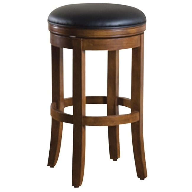 Salem 30 Inch Swivel Bar Stool 12986184 Overstock Shopping throughout Swivel Backless Bar Stools