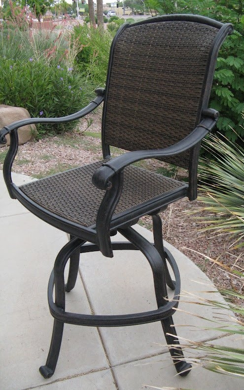 Santa Clara Wicker Swivel Outdoor Bar Stool in Incredible  wicker swivel bar stools pertaining to  Household