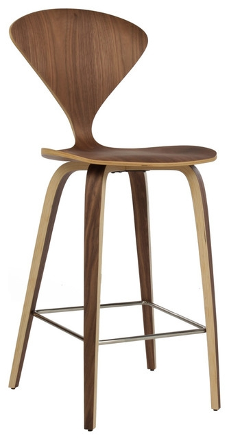Satine Stool With Walnut Veneer Midcentury Bar Stools And for mid century modern bar stool regarding Home