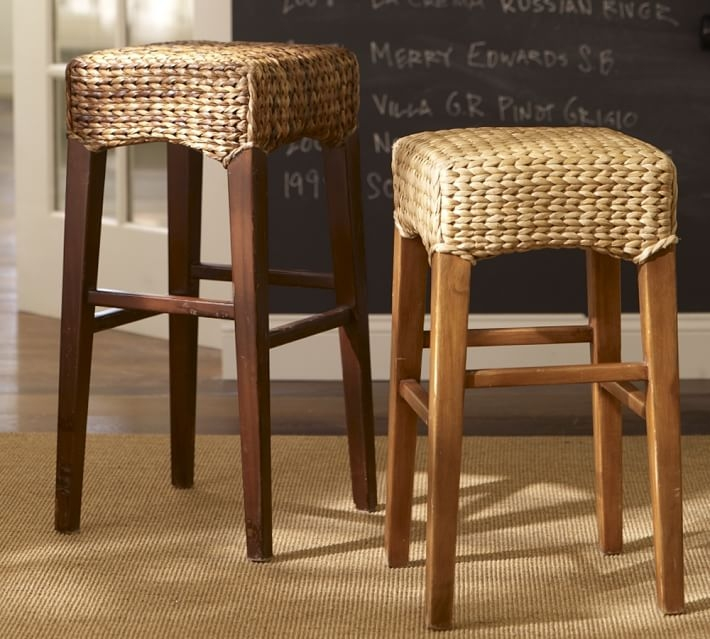 Seagrass Backless Barstool Pottery Barn for The Most Amazing  seagrass bar stools pertaining to Inviting
